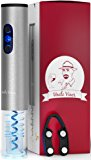 Electric Wine Opener with Charger- Wine Accessories Gift Set- Kit with Batteries and Foil Cutter- Uncle Viner G103