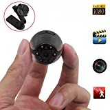 Mini Spy Hidden Camera, Heymoko 1080P/720P Full HD 6 LED Infrared Night Vision Motion Detection Portable Spy Camera Home Surveillance Camera Nanny Cam