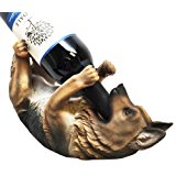 KITCHEN DECOR GERMAN SHEPHERD DOG WINE BOTTLE HOLDER FIGURINE STATUE by ATL Autotechnik