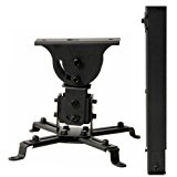 "VideoSecu LCD DLP Projector Vaulted Ceiling Mount Bracket with Adjustable Extension Pole to 26.7"" - Black PJ2B 1C9"