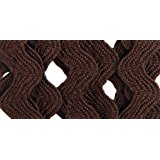 Wrights 117-401-092 Polyester Rick Rack Trim, Seal Brown, Medium, 2.5-Yard