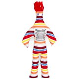 Dammit Doll - Classic Dammit Doll - Sunset Stripes - Red, White, Yellow, Orange & Blue Stripe , Red Hair - Stress Relief, Gag Gift