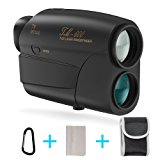 Laser Rangefinder, Fnova Hunting Range Finder Ranging 5-600 Yards, +/- 1 Yd Accuracy, 7X Magnification Lens with Distance and Speed Mode for Golf,Racing,Archery,Survey, Laser Distance Meter