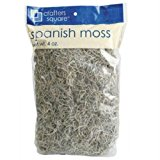Crafters Square Natural Tone Spanish Moss 125 Cubic Inches (Pack of 2)