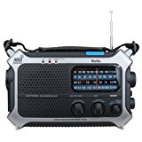 Kaito KA550 6-Way Powered AM/FM Shortwave NOAA Weather Emergency Radio with PEAS (Public Emergency Alert System) (Silver)
