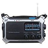 Kaito KA550 6-Way Powered AM/FM Shortwave NOAA Weather Emergency Radio with PEAS (Public Emergency Alert System) (Silver)