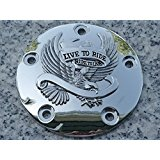 i5 Chrome Eagle Points Cover for Harley Davidson Softail Dyna 1999-2013.