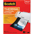 "Scotch Thermal Laminating Pouches, 8.9"" x 11.4"", Clear - 50 pack"