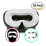 T&B Disposable Oculus Rift CV1 VR Mask 2 Ways To Use Hygiene White Replaceable Blinder Replacement Accessories for Oculus Rift Virtual Reality Headset 50 Pc