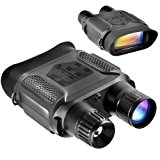 """Night Vision Binocular, Digital Infrared Night Vision Scope - 640x480p HD IR Photo Camera & Camcorder Clearly See Up to 400m/1300ft, 7x Magnification in the Darkness, 4"""" Large Viewing Screen"""