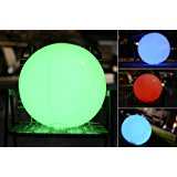 Light up Beach Ball [Large] | Glow in the dark with Color Changing LED Lights | Great for Parties, Pool, Barbecues, or Decoration