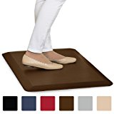 """The Original 3/4"""" GORILLA GRIP (R) Premium Anti-Fatigue Comfort Mat, Perfect for Kitchen and Office Standing Desk, Ergonomically Engineered, 6 Colors and 3 Sizes, Non-Toxic, 32x20 inches (Brown)"""
