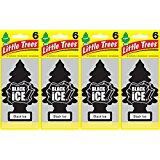 Little Trees Black Ice Air Freshener, (Pack of 24)