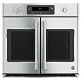 "GE Cafe CT9070SHSS 30"" Single French Door Electric Wall Oven with Self-Clean in Stainless Steel"