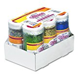 Pacon Spectra Glitter Sparkling Crystals, Assorted Colors, 4-Ounce, 6-Pack (91370)