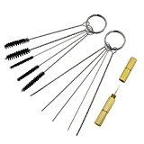 QST 11pcs Airbrush Spray Gun Nozzle Cleaning Repair Tool Kit Needle & Brush Set
