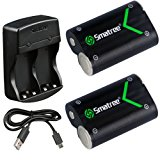Smatree Rechargeable NI-MH Battery 2000mAH (2-Pack) + Dual-Channel Charger for Xbox One / Xbox One S Wireless Controller