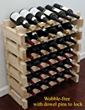 Stackable Storage Wine Rack Stand, Wobble-Free, (36 Bottle Capacity, 6 X 6 Rows)