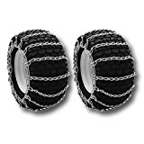 Snow/Mud Tire Chains 4.80x4.00x8 4.8-12 2-Link Blower Thower Pair