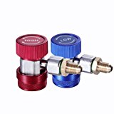 WINOMO Adjustable AC R134A Quick Coupler Connector Adapter High Low Gauge Hose Conversion kit