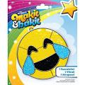 Colorbok 73703 Mibi Suncatcher Emoji Happy Tears Suncatcher Kit