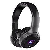 Bluetooth Headphones, ELEGIANT On Ear Bluetooth Wireless Headset Foldable with Mic FM Radio TF Card Slot Wired and Wireless Headphones for iPhone 8 7 6S 6/Android Phones/Laptop/ PC Black