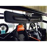 """16.5"""" Extra Wide Panoramic Rear View Mirror for 2013+ Polaris Ranger 900XP w/ Lock n Ride cab (NOT FOR ROUND ROLL BAR UNITS.)"""