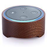 Natural Solid Wood Stand Holder for Alexa, Piqiu Simple Amazon Echo Dot Case for Echo Dot 2nd Generation, Jam Classic Speaker base -Nice Decoration for Kitchens and Living Room