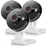 Funlux 3 Pack Wireless 720p HD - 115°Wide Viewing Angle - Smart Home WiFi IP Security Camera System with 2 - way Audio, Infrared Night Vision and Motion Detection