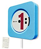 KECAG CD Player Wall Mountable Bluetooth Home Audio with Remote Control Built-in HiFi Speakers USB MP3 3.5mm Headphone Jack AUX input/output, Blue