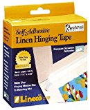 Lineco Self Adhesive Linen Hinging Tape 1.25 in. x 35 ft. white linen tape