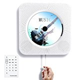 Tocode CD Player Wall Mountable Bluetooth Speaker Innovative Pull Switch with Remote HiFi Speaker USB Drive Player and MP3 3.5mm Headphone Jack