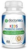 Kids Probiotics Chewable by Doctor MK's®, Sugar Free Animal Shapes, Tastes Like Candy, Natural Wild Berry Tablets, Vegetarian / Vegan