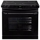 "Frigidaire FFED3025LB30"" Black Electric Drop-In Smoothtop Range"