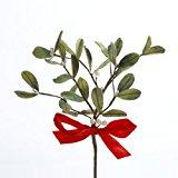 Kurt Adler Mistletoe Pick with Red Bow