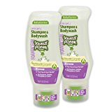 BabyGanics Foamin' Fun Foaming Body Wash & Shampoo, Soothing Formula, Lavender, 10.65-Fluid Ounce Bottles (Pack of 2), Packaging May Vary