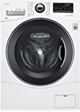 """LG WM3488HW 24"""" Washer/Dryer Combo with 2.3 cu. ft. Capacity, Stainless Steel Drum in White"""