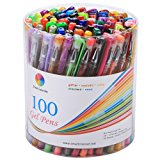 Smart Color Art 100 Colors Gel Pens Set for Adult Coloring Books Drawing Painting Writing