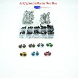 100pcs 6-12mm Black Plastic Safety Eyes for Bear, Doll, Puppet, Plush Animal and Craft One Box