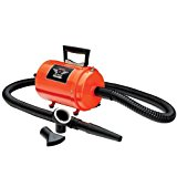 Dog Dryer Metrovac's Air Force Commander Professional Dog Grooming Pet Dryer – Portable Hair Dryer, 2 Speed Motor – In 3 Sizes – 5 Unique Colors