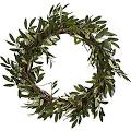 "Nearly Natural 4773 20"" Olive Wreath, Green"