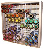 Wooden Craft Paint Storage Rack - Holds Most Standard Size 2oz. Bottles of Paint.
