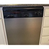 "As Seen On TV Peel and Stick Dishwasher Cover Stainless Steel Film GRAPHITE BRUSHED Stainless Steel Film Update appliances 26""W x 36""L"