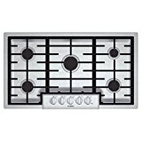 """Bosch NGM8655UC 800 36"""" Stainless Steel Gas Sealed Burner Cooktop"""