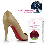 Solemates Heel Protectors – High Heel Stoppers Perfect for Any Wedding or Event Protecting Heels from Grass, Gravel, Bricks, and Cracks (Classic Clear)