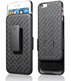 iPhone 6S Plus / 6 Plus Case, Aduro COMBO Shell & Holster Case Super Slim Shell Case w/ Built-In Kickstand + Swivel Belt Clip Holster for Apple iPhone 6S Plus / 6 Plus