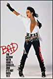 MICHAEL JACKSON 1987 BAD original promotional 24x36 POSTER VF+