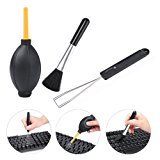 Hapurs Cleaning Tools Accessories Dust Blower Ball Rubber + Brush + Keycap Remover Cleaning Tools for Lens Filter Digital Camera Keyboard