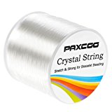 Paxcoo 1.2mm Elastic Stretch String Cord for Jewelry Making Bracelet Beading Thread