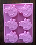 PEPPA PIG SILICONE FONDANT CANDY CHOCOLATE MOLD CUPCAKE PAN BIRTHDAY FAVOR
